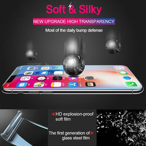 For iPhone X XS XS Max 6 7 8 Plus Super Smooth Film 360 Full Coverage Screen Protector With Free Gift Film Artifactfor iPhone Huawei Tempered Glass