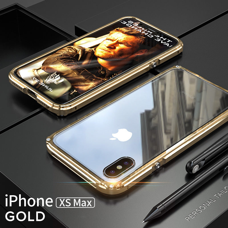 Ginmic Slim Frame phone Cases shockproof Aluminum Cover Metal Protector For iPhone XS XR XS MAX