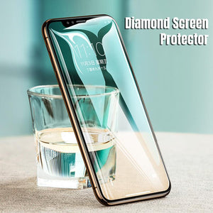 Diamond Full Coverage Screen Protector for iPhone 6 6S 7 8 Plus X XR XS MAX