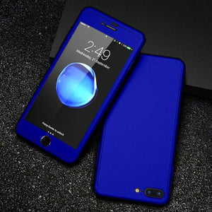 360 Protective Case For iPhone 5 5S SE Tempered Glass Front Back Cover Full Cover Body Protecting Shells