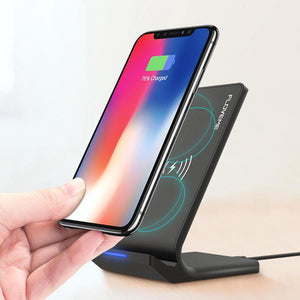 FLOVEME Qi Wireless Charger Desktop Phone Holder For iPhone X 8Plus Xiaomi Mix 2S S9+ S8 Note 8-Chargers & Cables-Black-hykis.com
