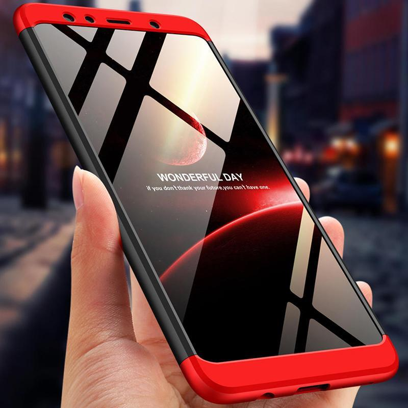 3 in 1 Samsung Galaxy  A7 2018 Double Dip 360° Hard PC Protective Case