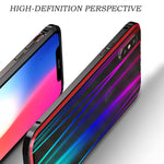 Laser aurora phone caseTempered Glass Case for iPhone X Phone Case Buckle Closure Metal Bumper Hard Case for iPhone X Capa