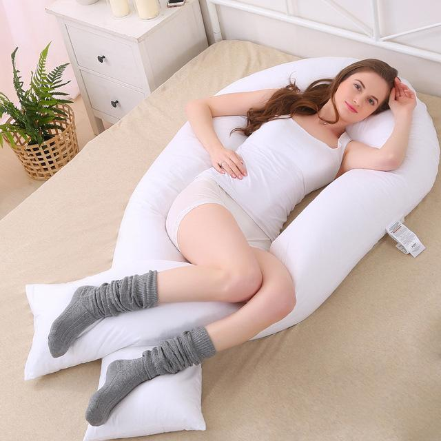 152* 75cm New Maternity big U Shaped Body Pillows Body Pregnancy Pillow For Side Sleeper Removable Cover
