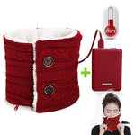 Neck scarf / usb rechargeable hand warmer cute safe fleece warmer