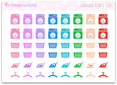 034 | Laundry Icon Stickers - My Pink Paperie