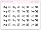 "066 | ""Day Off"" Script Stickers - My Pink Paperie"