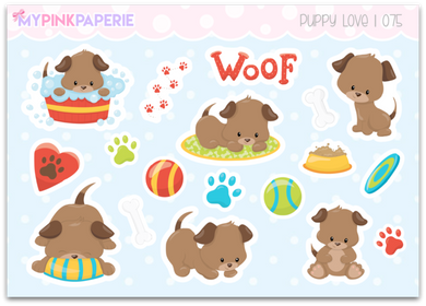 075 | Puppy Love Deco Stickers - My Pink Paperie