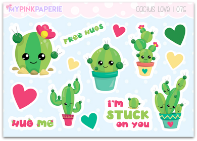 076 | Cactus Love Deco Stickers - My Pink Paperie