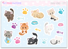 077 | Kitty Love Deco Stickers - My Pink Paperie