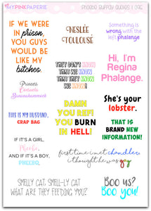 096 | Phoebe Buffay Quotes Stickers - My Pink Paperie