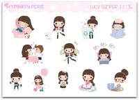 136 | Girls Activity Samplers 1 | Cute Girl Stickers - My Pink Paperie