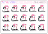 173 | Cardio Yuki | Cute Unicorn Stickers - My Pink Paperie