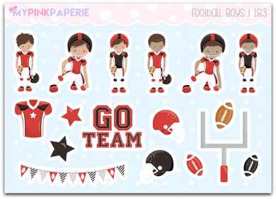 183 | Football Boys Deco Stickers - My Pink Paperie