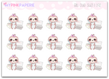 192 | Bill Due Suzi | Cute Sloth Stickers - My Pink Paperie