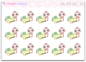 195 | Bed Time Suzi | Cute Sloth Stickers
