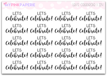 "224 | ""Let's Celebrate"" Script Lettering Stickers - My Pink Paperie"