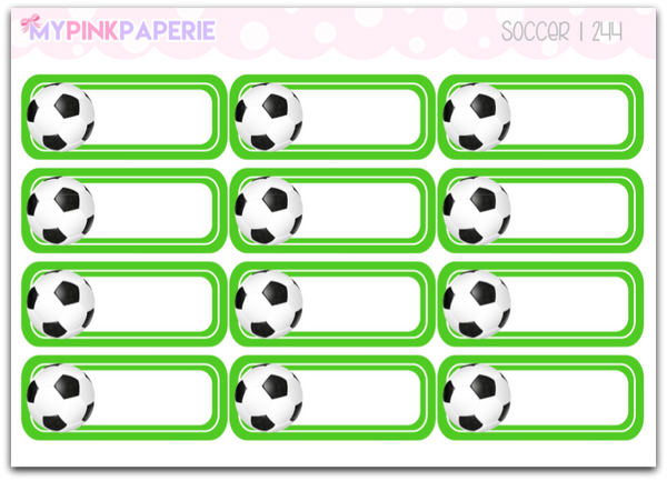 244 | Soccer Reminder Stickers - My Pink Paperie