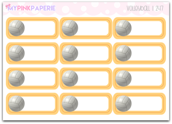 247 | Volleyball Reminder Stickers - My Pink Paperie