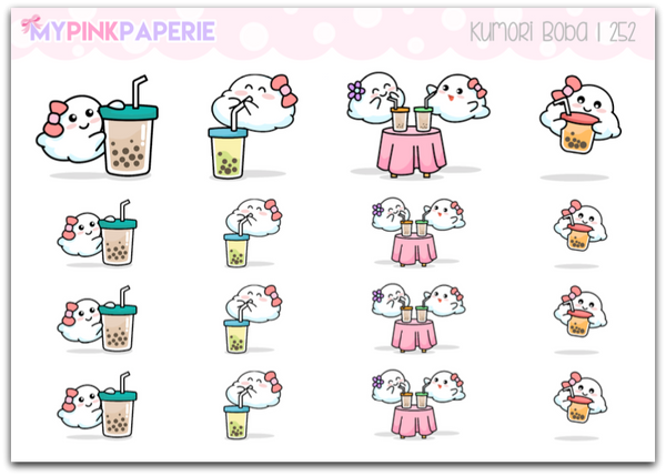252 | Kumori Boba | Original Hand Drawn Stickers - My Pink Paperie