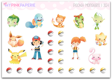 264 | Pocket Monsters Deco Stickers - My Pink Paperie