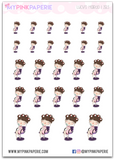 283 | Girl's Hairdo | Cute Girl Stickers - My Pink Paperie