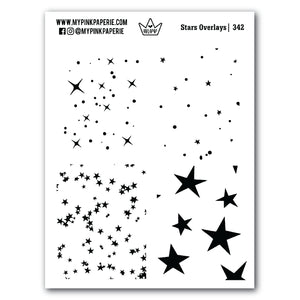 342 | Full Box Stars Overlay | Clear Stickers - My Pink Paperie