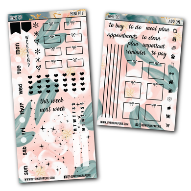HWF 03 - AMANDA | Foiled Hobonichi Weeks Mini Kit + Add on - My Pink Paperie