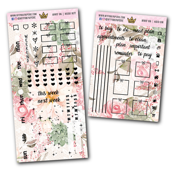 HW 9 - BRITNEY | Foiled Hobonichi Weeks Mini Kit + Add on - My Pink Paperie