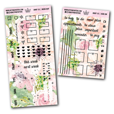HWF 12 - TINA | Foiled Hobonichi Weeks Mini Kit + Add on - My Pink Paperie