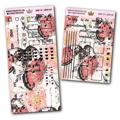 HWF 13 - NATALIE | Foiled Hobonichi Weeks Mini Kit + Add on - My Pink Paperie