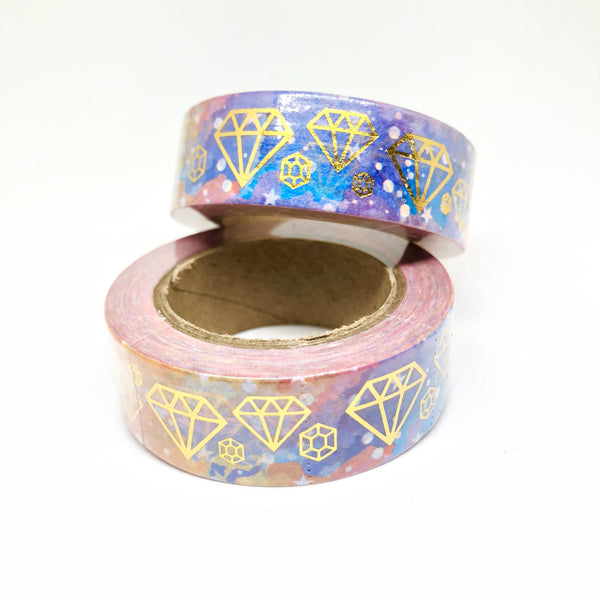 Galaxy Diamond Gold Foiled Washi Tape Roll - My Pink Paperie
