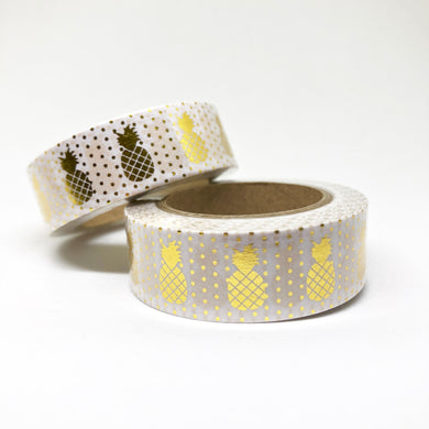 Gold Foiled Pineapple Washi Tape Roll