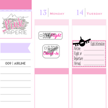 009 | Flight Reminder Stickers - My Pink Paperie