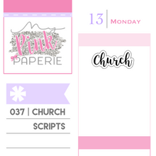"037 | ""Church"" Script Stickers - My Pink Paperie"