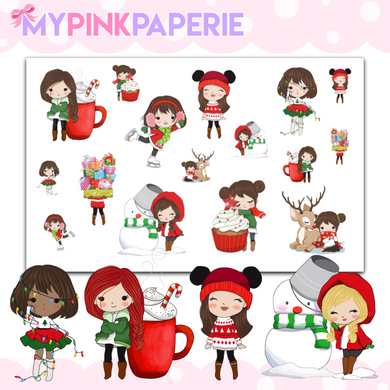 123 | Winter Girls Festivities | Cute Girl Stickers