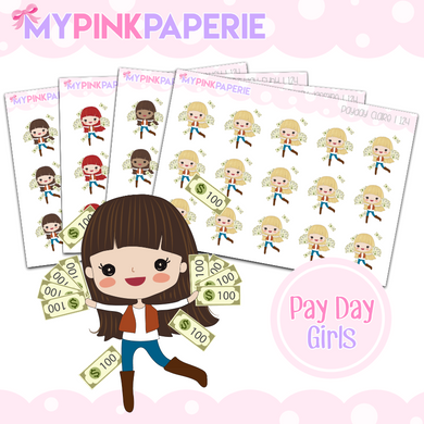 124 | Pay Day Girls | Cute Girl Stickers
