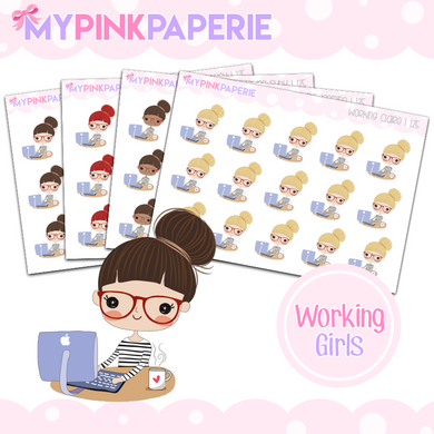 125 | Working Girls | Cute Girl Stickers