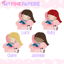 126 | Relaxing Girls | Cute Girl Stickers - My Pink Paperie