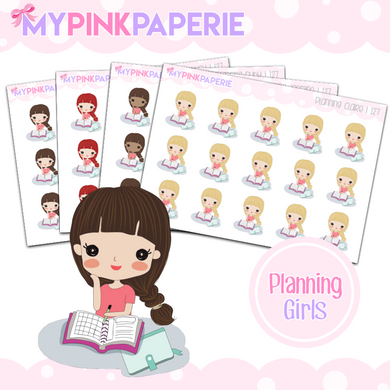 127 | Planning Girls | Cute Girl Stickers