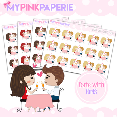 130 | Date with Girls | Cute Girl Stickers