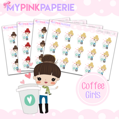 132 | Coffee Girls | Cute Girl Stickers