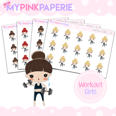 135 | Workout Girls | Cute Girl Stickers