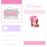 177 | Movie Night Yuki | Cute Unicorn Stickers - My Pink Paperie