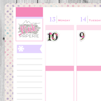 184 | Floral Numbers Stickers - My Pink Paperie