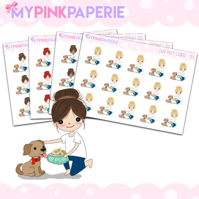 210 | Dog Mom Girls | Cute Girl Stickers