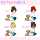 210 | Dog Mom Girls | Cute Girl Stickers - My Pink Paperie