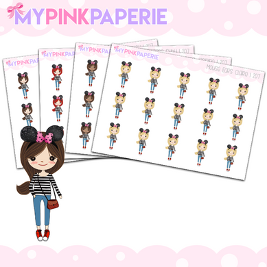 207 | Mouse Ears Girls | Cute Girl Stickers