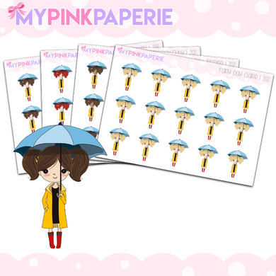 202 | Rainy Day Girls | Cute Girl Stickers