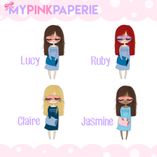 201 | Sleepy Girls | Cute Girl Stickers - My Pink Paperie